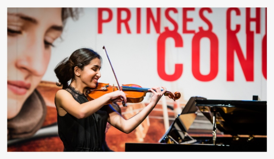 Violiste Diana Fakour wint tweede prijs in Prinses Christina Concours